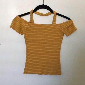 Striped mustard top
